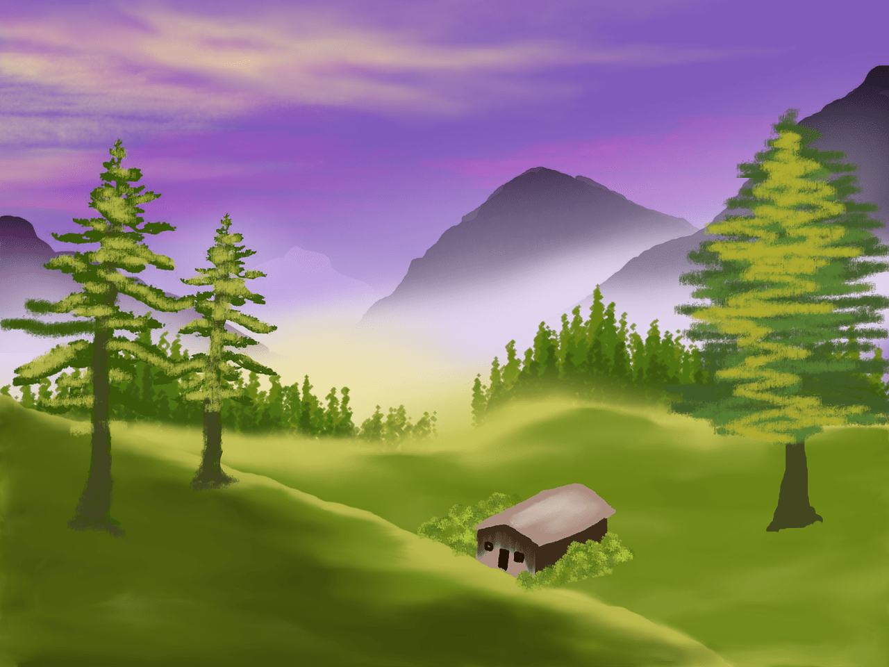 speed painting landscape 4